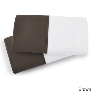 Southshore Fine Linens Vilano Springs Collection Brushed Microfiber Colored Hem Pillowcases