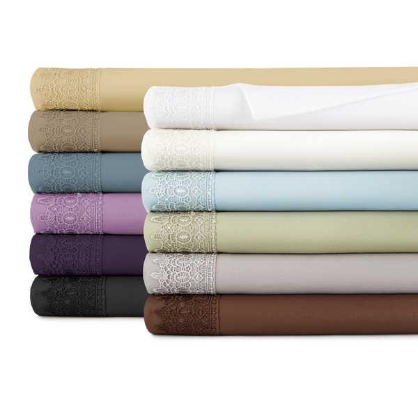 Southshore Fine Linens Vilano Lace Brushed Microfiber Pillowcases (Set of 2)