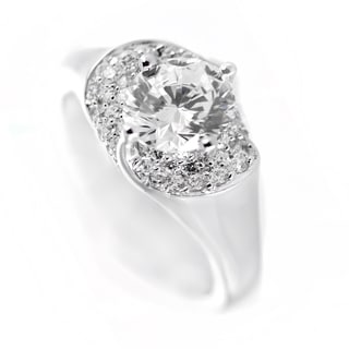 One-of-a-kind Michael Valitutti Cubic Zirconia Ring