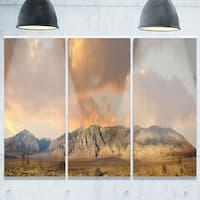 Sierra Nevada Mountain - Landscape Glossy Metal Wall Art - 36Wx28H