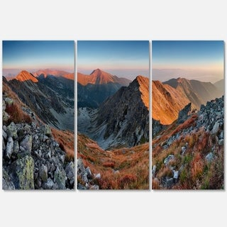 Rocky Slovakia Mountains - Landscape Glossy Metal Wall Art - 36Wx28H