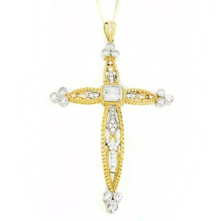 One-of-a-kind Michael Valitutti Cubic Zirconia Cross Pendant