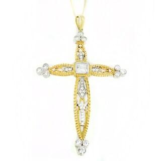 One-of-a-kind Michael Valitutti Cubic Zirconia Cross Pendant