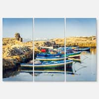 Ancient Phoenician Port Africa - Landscape Glossy Metal Wall Art - 36Wx28H