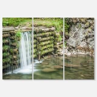 Fabulous Man-made Waterfall - Landscape Glossy Metal Wall Art - 36Wx28H