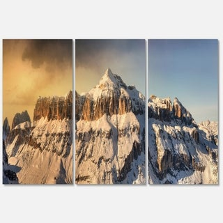 Dramatic Overcast Sky over Alps - Landscape Glossy Metal Wall Art - 36Wx28H
