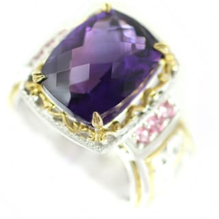 One-of-a-kind Michael Valitutti African Amethyst and Pink Tourmaline Cocktail Ring