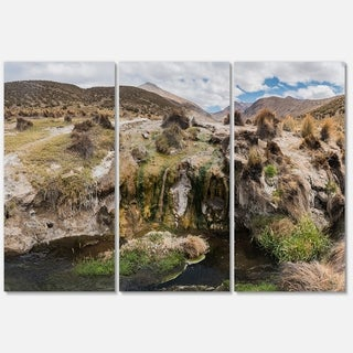Fumaroles Altipano Geothermal Area - Landscape Glossy Metal Wall Art - 36Wx28H