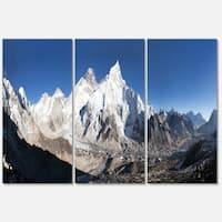 Mount Everest Glacier Panorama - Landscape Glossy Metal Wall Art - 36Wx28H - 36 x 28