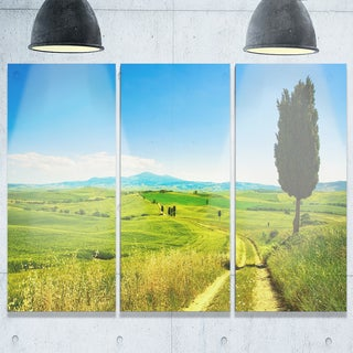 Rural Landscape Countryside Farm - Oversized Landscape Glossy Metal Wall Art - 36Wx28H