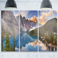 Moraine Lake in Banff Park Canada - Landscape Glossy Metal Wall Art - 36Wx28H