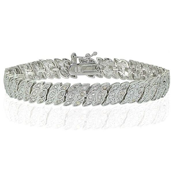 Shop DB Designs Silvertone 1ct TDW Diamond S Wave Link