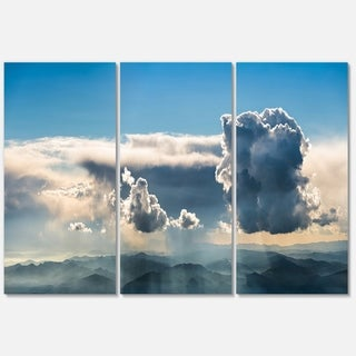 Heavy Clouds in Sky Panoramic View - Landscape Glossy Metal Wall Art - 36Wx28H