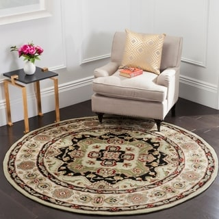 Safavieh Hand-hooked Total Performance Soft Green / Ivory Acrylic Rug (6' x 9')