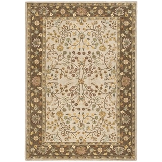 Safavieh Hand-hooked Total Performance Ivory / Taupe Acrylic Rug (6' x 9')