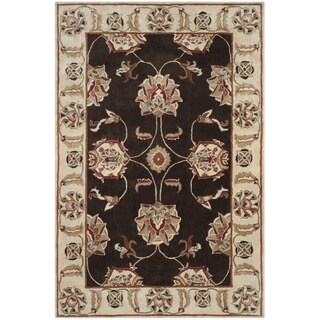 Safavieh Hand-hooked Total Performance Brown / Ivory Acrylic Rug (6' x 9')