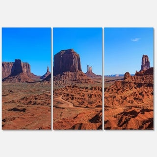 Monument Valley National Park - Landscape Glossy Metal Wall Art - 36Wx28H