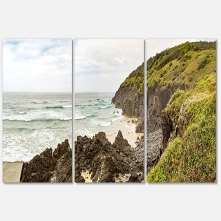 Crescent Head Coastline in Australia - Landscape Glossy Metal Wall Art - 36Wx28H
