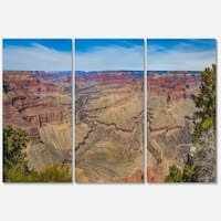 Grand Canyon National Park - Landscape Glossy Metal Wall Art - 36Wx28H