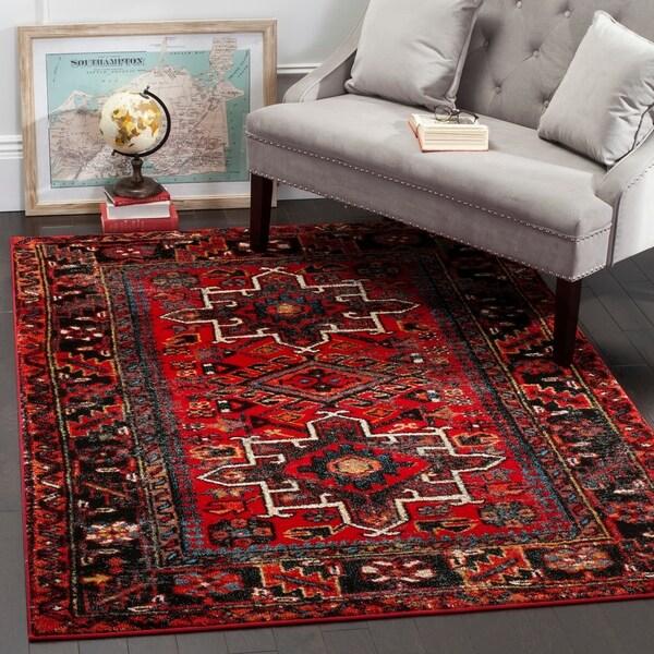 Safavieh Vintage Hamadan Traditional Red/ Multi Rug - 5' x 8'