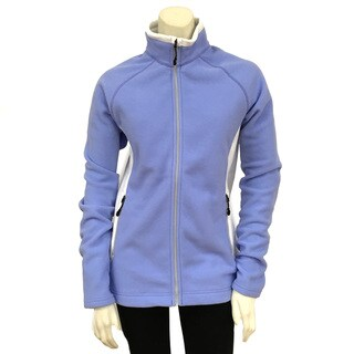 Narragansett Traders Women's White/Purple Polyester/Fleece Full-zip Medium-weight Contrast Fleece