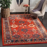 "Safavieh Vintage Hamadan Traditional Orange/ Blue Distressed Rug - 5'3"" x 7'6"""