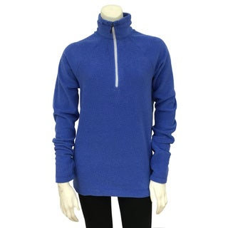 Narragansett Traders Women's Blue Fleece 1/4-zip Medium-weight Pullover