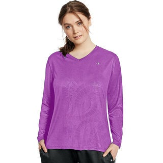 Champion Women's Vapor Plus-size Longsleeve T-shirt