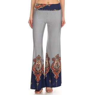 Women's Multicolored Polyester/Spandex Border Pants
