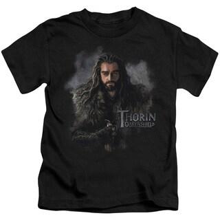 The Hobbit/Thorin Oakenshield Short Sleeve Juvenile Graphic T-Shirt in Black