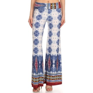 Women's Multicolored Polyester/Spandex Palazzo Pants