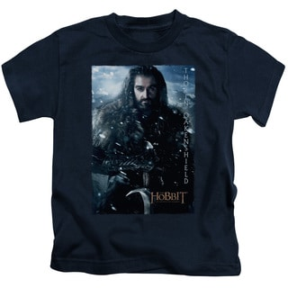 The Hobbit/Thorin Poster Short Sleeve Juvenile Graphic T-Shirt in Navy