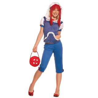 Multicolored Polyester Rag Doll Costume