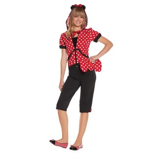 Elegant Moments Red/Black Cotton Miss Mouse Costume