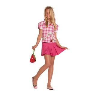 Elegant Moments Girls Pink Polyester Strawberry Sweetie Costume