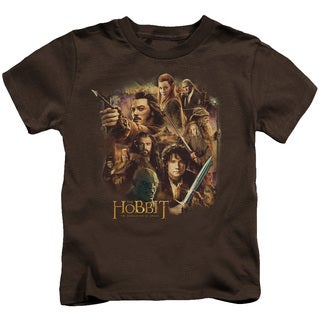 Hobbit/Middle Earth Group Short Sleeve Juvenile Graphic T-Shirt in Coffee