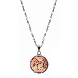 American Coin Treasures Hummingbird Coin Pendant Necklace