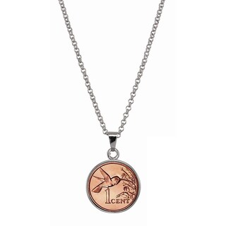 American Coin Treasures Hummingbird Coin Pendant Necklace