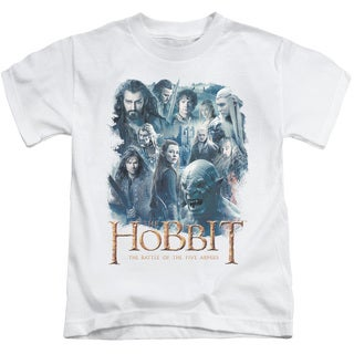 Hobbit/Main Characters Short Sleeve Juvenile Graphic T-Shirt in White