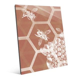 To Bee Glass Wall Art