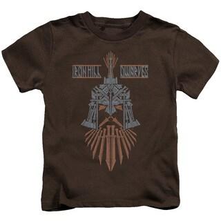 Hobbit/Ironhill Dwarves Short Sleeve Juvenile Graphic T-Shirt in Coffee