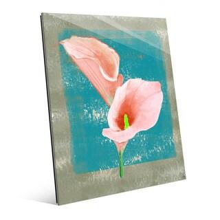 'Gentle Calla Lily' Glass Wall Art