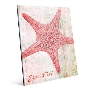 Star Fish Pink' Glass Wall Art