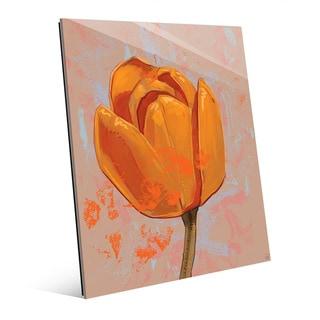 Orange Tulip' Glass Wall Art