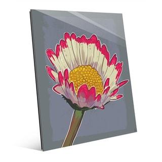 Daisy Against Slate' Glass Wall Art