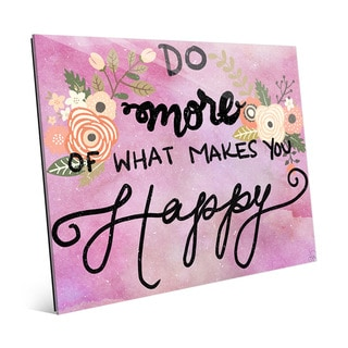 Do What Makes You Happy' Glass Wall Art