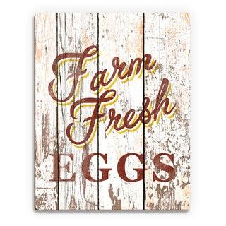 Farm Fresh Eggs' Wood Wall Art