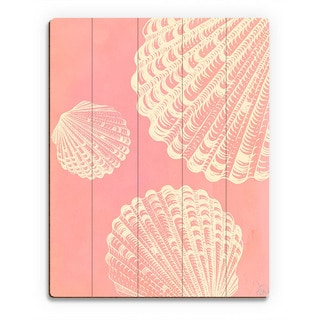 Clamshell Trio Pink' Wood Wall Art