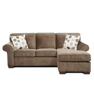 Sofa Trendz Cleo Ash Grey Reversible Sofachaise
