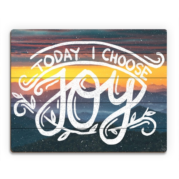 Shop Today I Choose Joy\' Birchwood Wall Art - On Sale - Free ...